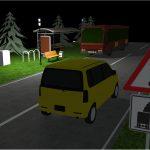 DIALux-Simulation Bushaltestelle